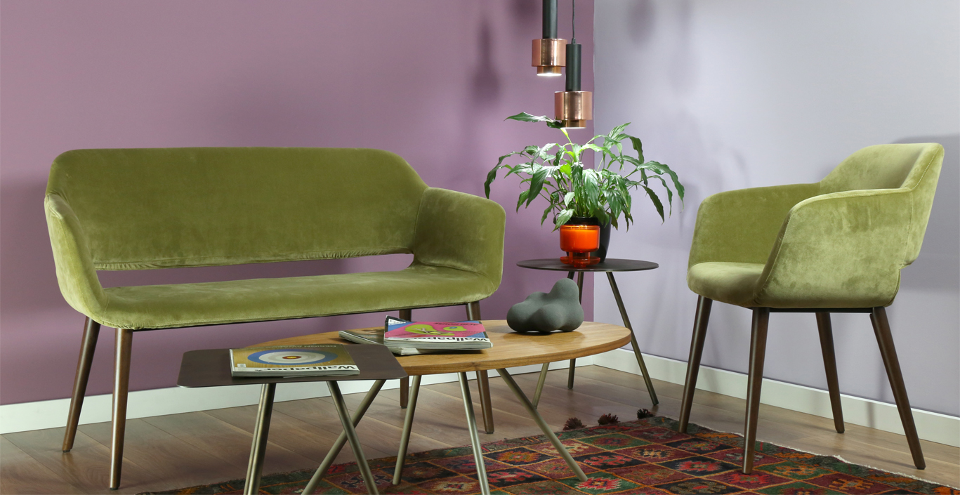 interior vintage idea with purple and green
