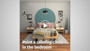 Paint a calming circle in the bedroom cover image