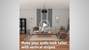 Make your small apartment look taller with vertical stripes cover image